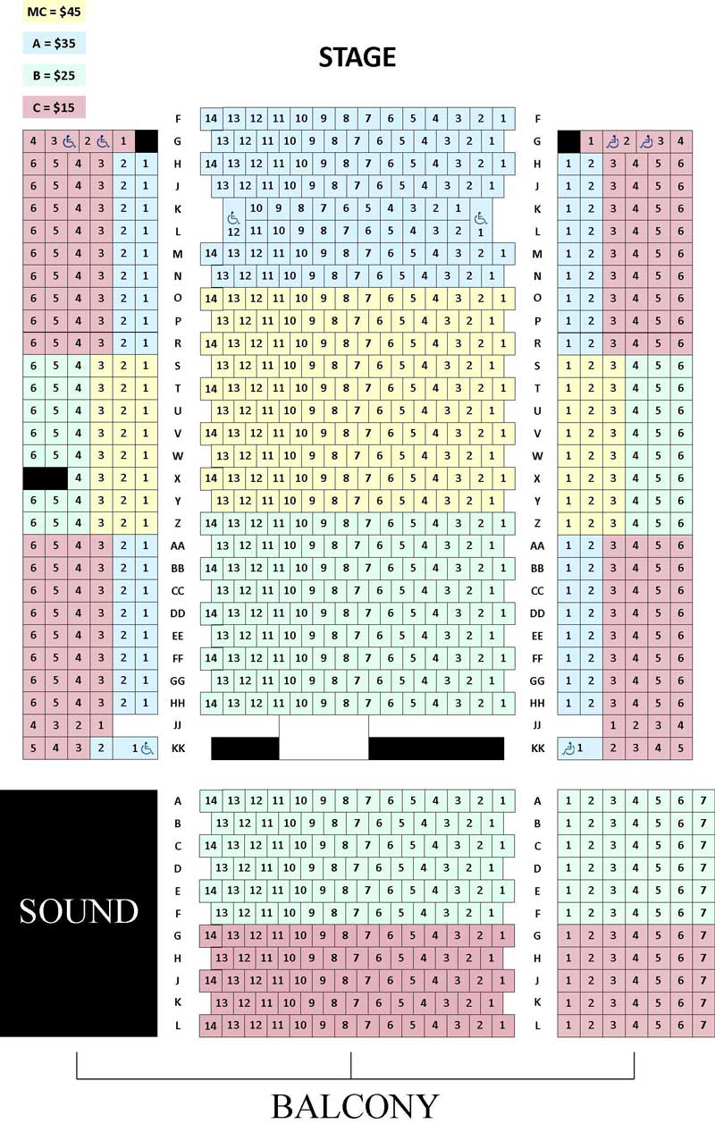 Arlington Music Hall Seating Chart