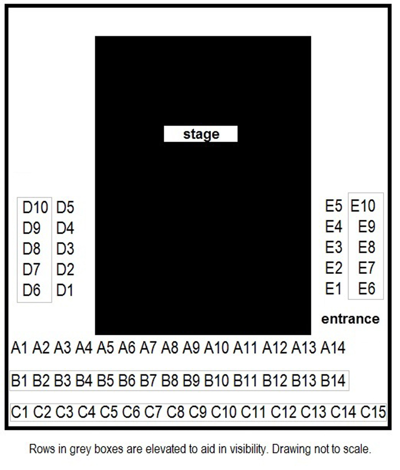 Stone Cottage Theatre Sating Chart